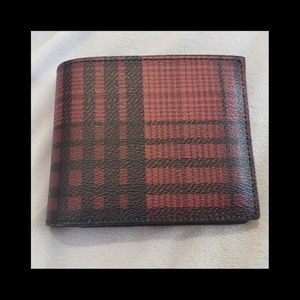 Men's Plaid Coach Wallet